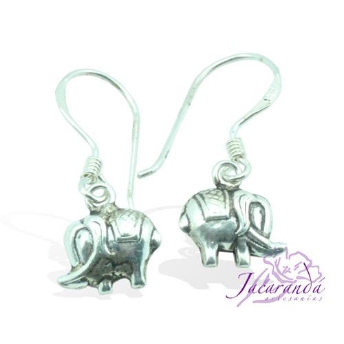 Pendiente de Plata 925 diseño Elefante de la fortuna