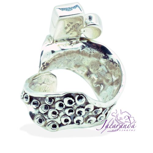 Anillo de plata 950 con piedras de Aolitas