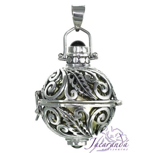 Llamador de ángel labrado en plata de 20 mm
