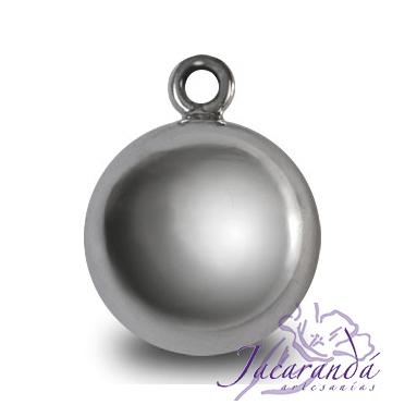 Llamador de ángel plata 925 lisa diámetro 15 mm