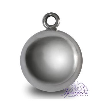 Llamador de ángel en plata 925 liso diámetro 18 mm