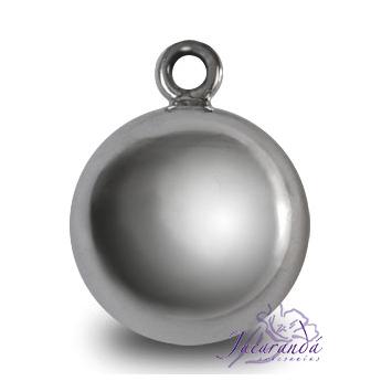 Llamador de ángeles plata 925 lisa en 19 mm