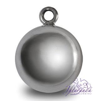 Llamador de ángel en plata 925 liso diámetro 20 mm