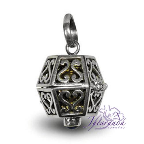 Llamador de ángeles de plata calado en 14 mm