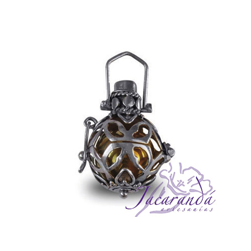 Llamador de ángeles de plata calado en 17 mm