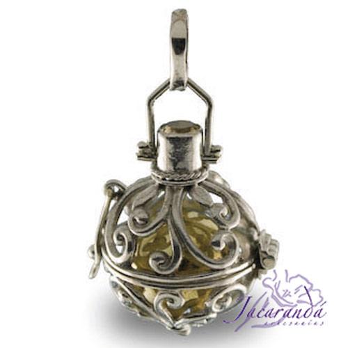 Llamador de ángeles de plata labrado en 19 mm