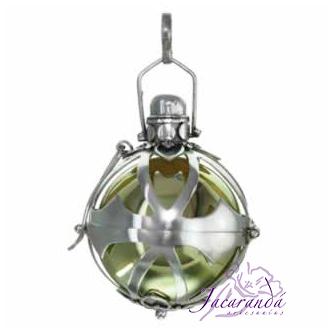 Llamador de ángeles de plata calado en 28 mm