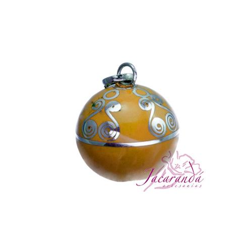 Llamador de ángeles Plata 925 con diseño Espirales color Amarillo