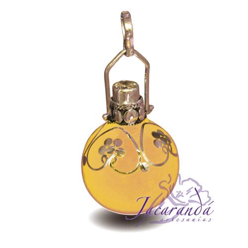 Llamador de ángeles Plata 925 con diseño Con Circón y flores color amarillo