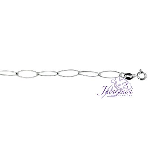 Cadena de Plata 925 Oval largo 70 cm