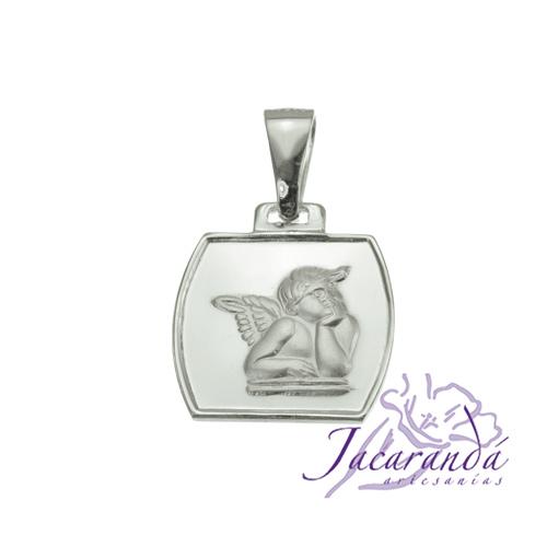 Colgante de plata 925 diseño ángel de Rafael chico