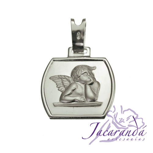 Colgante de plata 925 diseño ángel de Rafael Mediano