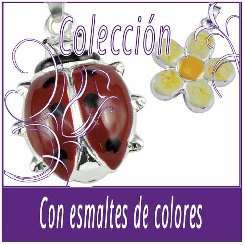 Con esmaltes de color
