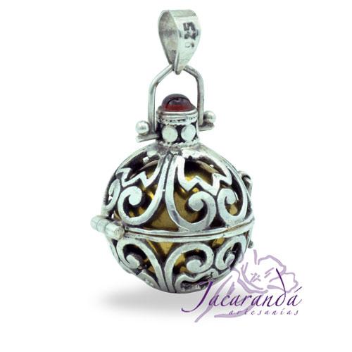 Llamador de ángeles de plata 925 con diseño de en 20 mm