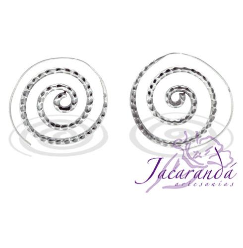 Pendiente de Plata 925 diseño Espiral 35 mm