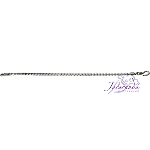 Pulsera de Plata 925 diseño Snake eslabón Unisex 19.50 cm