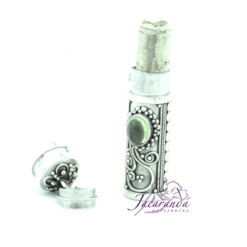Colgante de plata 925 Cofre de los Sueños y Deseos piedra Aventurina 35 mm
