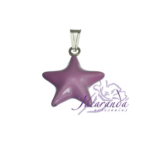 Colgante de Plata 925 con esmalte de color diseño Estrella pequeña