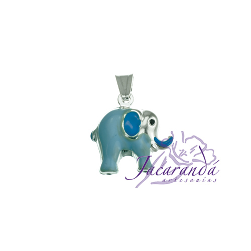 Colgante de Plata 925 con esmalte de color diseño Elefante