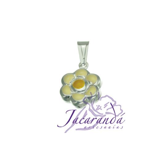 Colgante de Plata 925 con esmalte de color diseño Flor