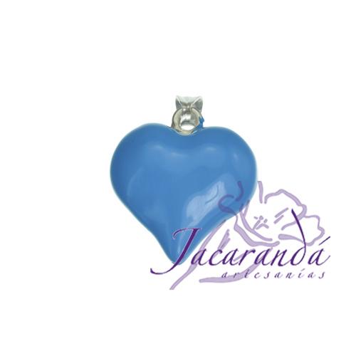Colgante de Plata 925 con esmalte de color diseño Corazón