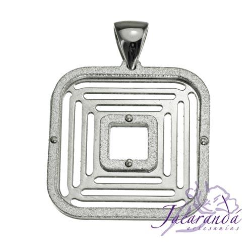 Colgante de plata 925 con baño de rodio Uomo