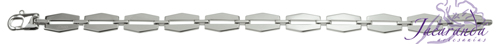 Pulsera de Plata 925 con baño de rodio diseño eslabones Uomo