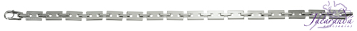 Pulsera de Plata 925 con baño de rodio diseño eslabones rectangulares